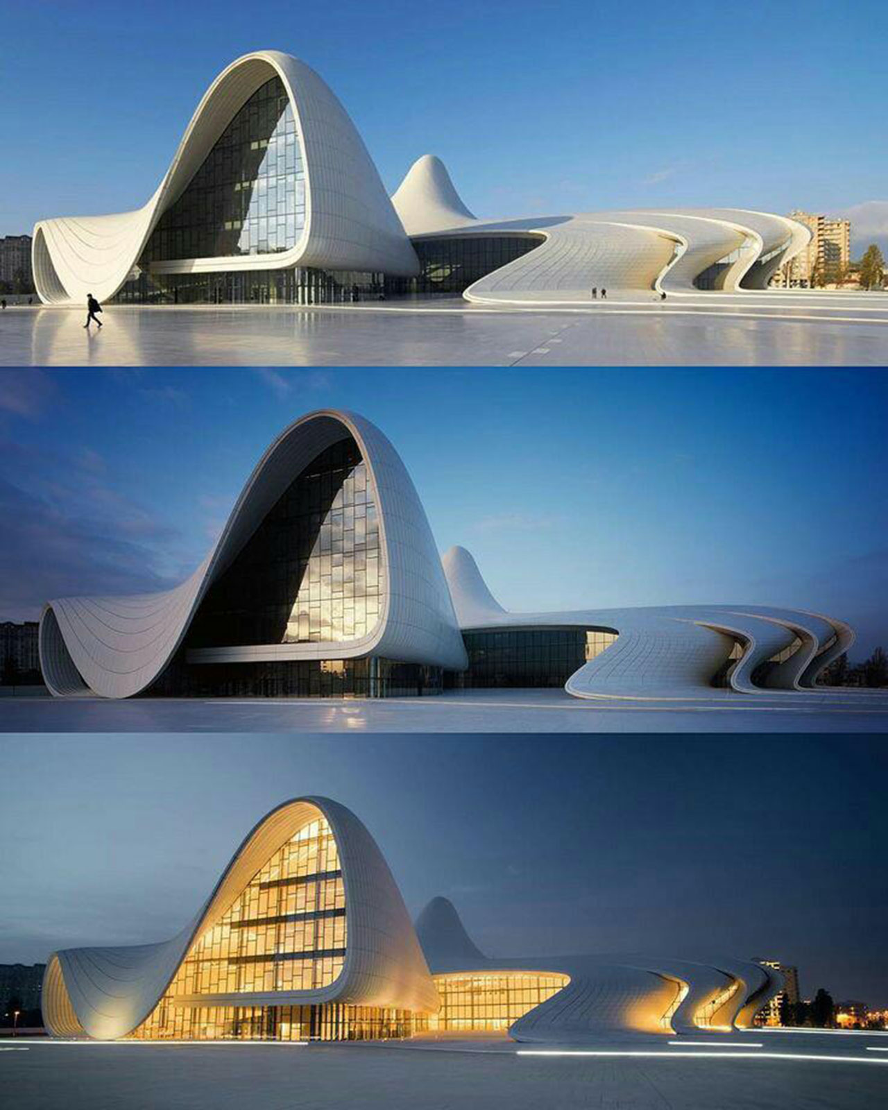 See Zaha Hadid's architecture H.Aliyev center
